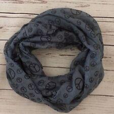 Snood scarf summer Blue Peace sign Hippie Boho