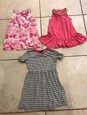 Toddler Girl 2t, 3t, 4t Dresses Flowers Strips Lot Of 3