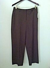 New Persuits 10 petite pant brown work trouser wool size 10P $72