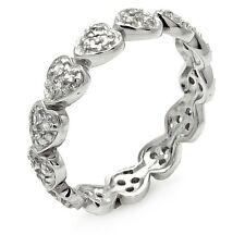 ST00254/925 STERLING SILVER ETERNITY WEDDING BAND /SZ 5 TO 9 / W/ DIAMONDS