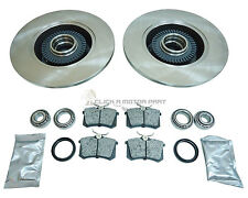 AUDI A4 AVANT B5 97-01 REAR BRAKE DISCS & PADS ABS RINGS & WHEEL BEARINGS KIT