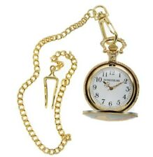 Rousseau Antique Style Pocket Watch Chian With Engraved Eagle For Mens Gold Gift