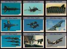 1991 BLUE ANGELS (45th Anniversary) COMPLETE BASIC TRADING CARD SET