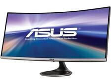 ASUS Designo Curved MX34VQ 34�? UWQHD 100Hz DP HDMI Adaptive-Sync Qi Wireless...