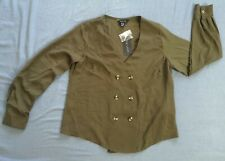 New Look Women's Khaki Green Alannah Tux Shell Blouse Size UK 12 New With Tags