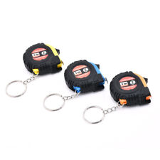 "1M/39"" Useful Retractable Ruler Tape Measure Key Chain Mini Pocket Size Metric"