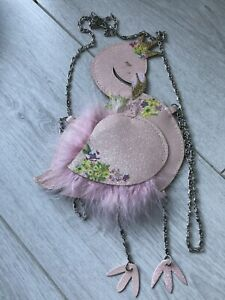 Cute Flamingo Shoulder Bag Zip Fastening At Back