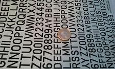 decals decalcomanie deco chiffre lettre alphabeth grand modele batonnage