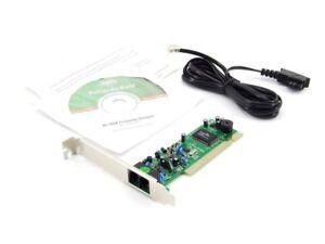 Ms-Tech 56k V92 Fax Voz Módem Tarjeta PCI Interno RJ11 V.92 Smartlink SL1800