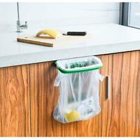 Kitchen Trash Garbage Bag Hanging Rack Rubbish Holder Plastic Cupboard Storage