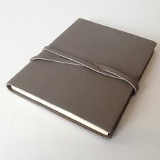 RUSTICO Venture Notebooks Leather Journals with Strap and Dot Grid pages Gray