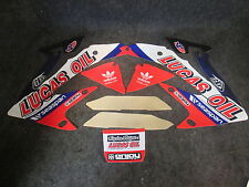 Honda CRF450 2005-2008 Lucas Oil red/blue radiator shroud graphics GR1480