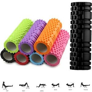 Foam Fitness Roller Deep Tissue Massage Grid Muscle Trigger Point Muscles Gym UK