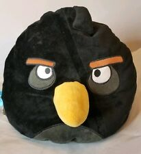 "Angry Birds 12"" x 13"" Rovio Plush Pillow Black Bomb Bird Beanbag Novelty Toy"