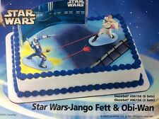 Star Wars Cake Topper Set Obi-Wan Kenobi Jango Fett Attack of The Clones DecoPac
