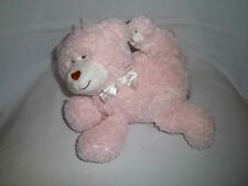KIDS PREFERRED Plush MUSICAL BEAR Mom Baby Pink Wind Up Motion Animated Stuffed