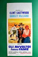 L05 Plakat Gli Geier Haben Hunger Clint Eastwood Shirley Maclain