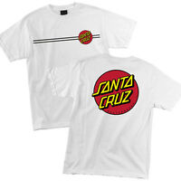Santa Cruz Classic Dot T Shirt Tee Skateboard White New Multiple Size M L XL XXL