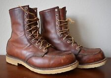 VINTAGE RED WING WORK BOOTS - SIZE 10D - INSULATED LINED - CREPE SOLE - MADE USA