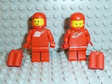 LEGO® Classic Space 2x Figur Astronaut rot mit Airtank 1968 918 6930 6929 F541