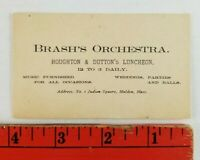 Vintage Brash's Orchestra Wedding Parties Malden Massachusetts Business Card