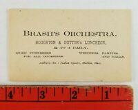 Vintage Brash's Orchestra Wedding Parties Malden Massachusetts Business Card