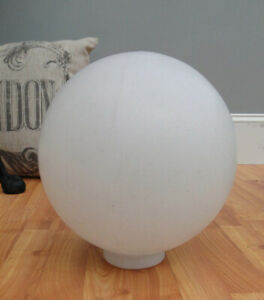 Big Plastic Shade for Outdoor Light Fixture 10 Inch Dia Round White Globe Ball
