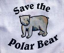 Endangered Animals / Species Save the Polar Bear Long Sleeve T-shirt Adult Large
