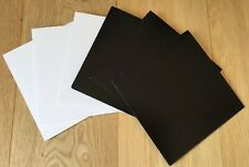 """5 x White or Black Outer Card 7"""" Single 45 Sleeve Cover Test Press Vinyl Record"""
