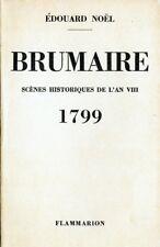 C1 NAPOLEON BONAPARTE Noel BRUMAIRE Scènes historiques de l'AN VIII 1799