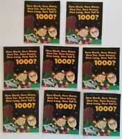How Big is 1000? Numbers Illustrated Paperback 8 Copies Classroom Lot Math