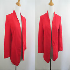 A70 NEW W TAG LC LAUREN CONRAD WOMENS SZ 2 RED STRUCTURED OPEN BLAZER JACKET