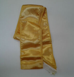 Gold Sash Pirate Sash Prince Royal Princess Queen Belt Costume Accessory 80in