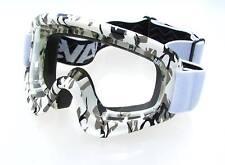Occhiali da moto moto con montatura in bianco