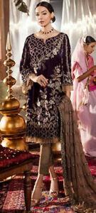 Salwar Kameez Unstitched Designer Velvet Collection Chiffon Dupatta