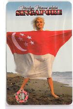 SEXY CHARME PIN-UP ART  TELECARTE / PHONECARD .. SINGAPOUR MARILYN MONROE NEUVE