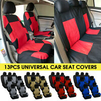 13pcs 7 Seater Car Van Seat Cover Protector Cushion Front Rear Full Set Universa