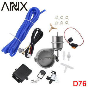 "3"" Exhaust Control Valve Set Vacuum Cutout Pipe with Wireless Remote Controller"