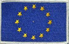 European Union (EU) Flag Iron-On Tactical Patch White Border #50