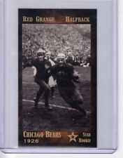1926 Red Grange Chicago Bears Hall Of Fame halfback, rookie year, 1st NFL star