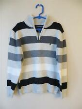 NWT Nautica Zip Neck 100% Cotton Sweater Boys (7) MSRP $42.50