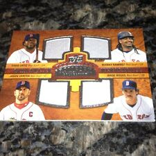 Red Sox 4 Game Used Jersey Card Ortiz, Boggs, Varitek, Manny Ramirez 2008 UD