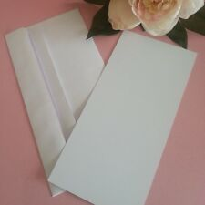 DL Flat DIY Blank Card Invitation Making Kit Envelopes White - 25 Pack