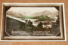 Vintage Postcard: Birthday Greeting Card, Scottish Landscape