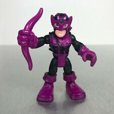 Playskool Marvel Super Hero Adventures HAWKEYE figure purple comic book costume