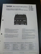 Original Service Manual  SABA  C 2500 C 7500