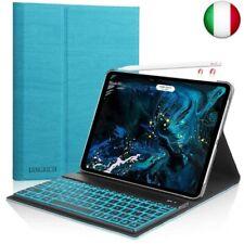D DINGRICH Tastiera Custodia per iPad PRO 11 2018, Custodia con (iPad 11.1, Blu)
