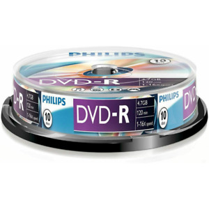 Philips DVD-R | Premium Blank Recordable DVD Discs In Sleeves 4.7GB/120 Min/16x