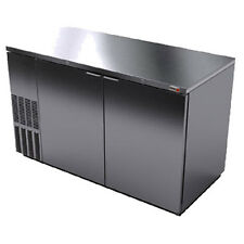 "Fagor Fbb-59S 59.5"" Stainless Steel Refrigerated Back Bar Cabinet- 2 Solid Doors"
