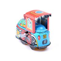 Retro Steam Train Reminiscence Children Vintage Wind Up Tin Toys PLF